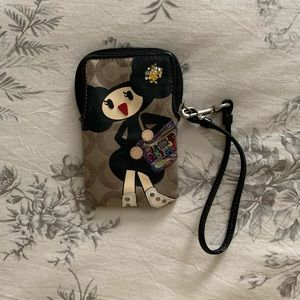 Coach Poppy Character Phone and Card Pouch 🖤